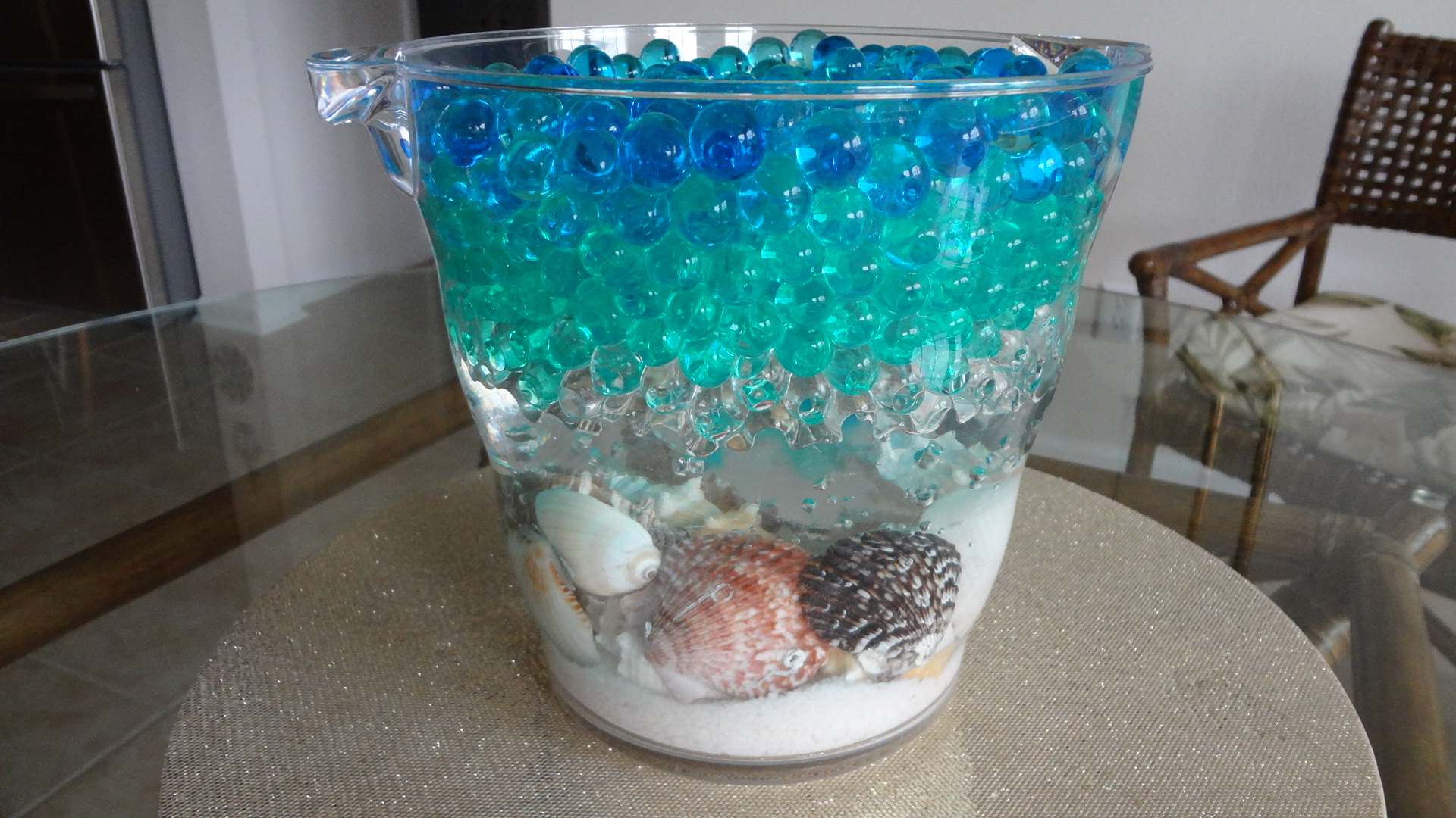 How to Make a Beach Centerpiece using Water Beads