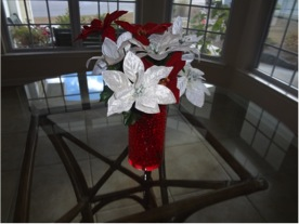 Christmas water beads centerpiece
