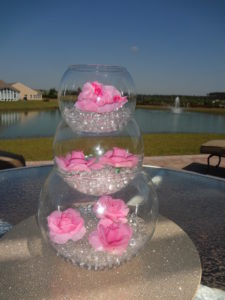 Using water beads for a wedding centerpiece